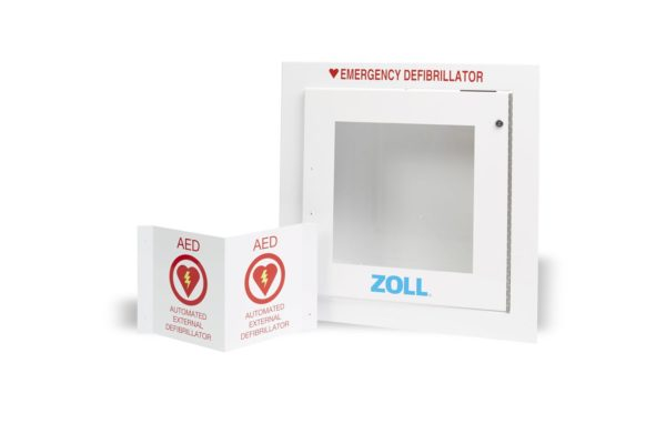 Zoll AED Plus Recessed Wall Cabinet Semi